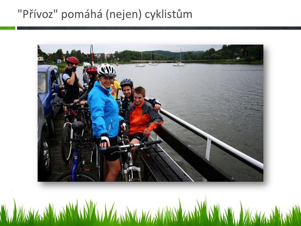 Přívoz pomáhá (nejen) cyklistům