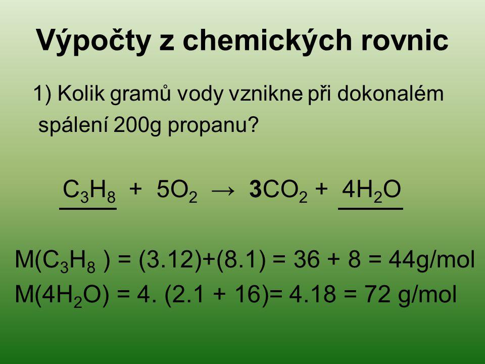 Výpočty z chemických rovnic