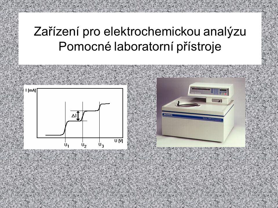 Zařízení pro elektrochemickou analýzu Pomocné laboratorní přístroje