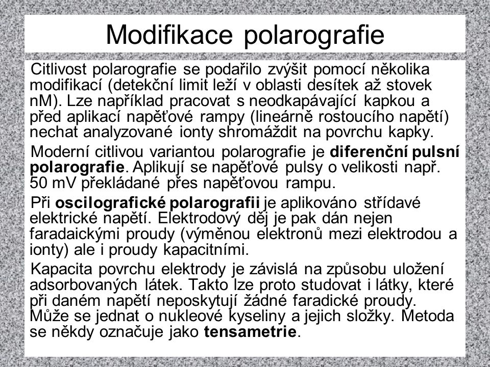 Modifikace polarografie