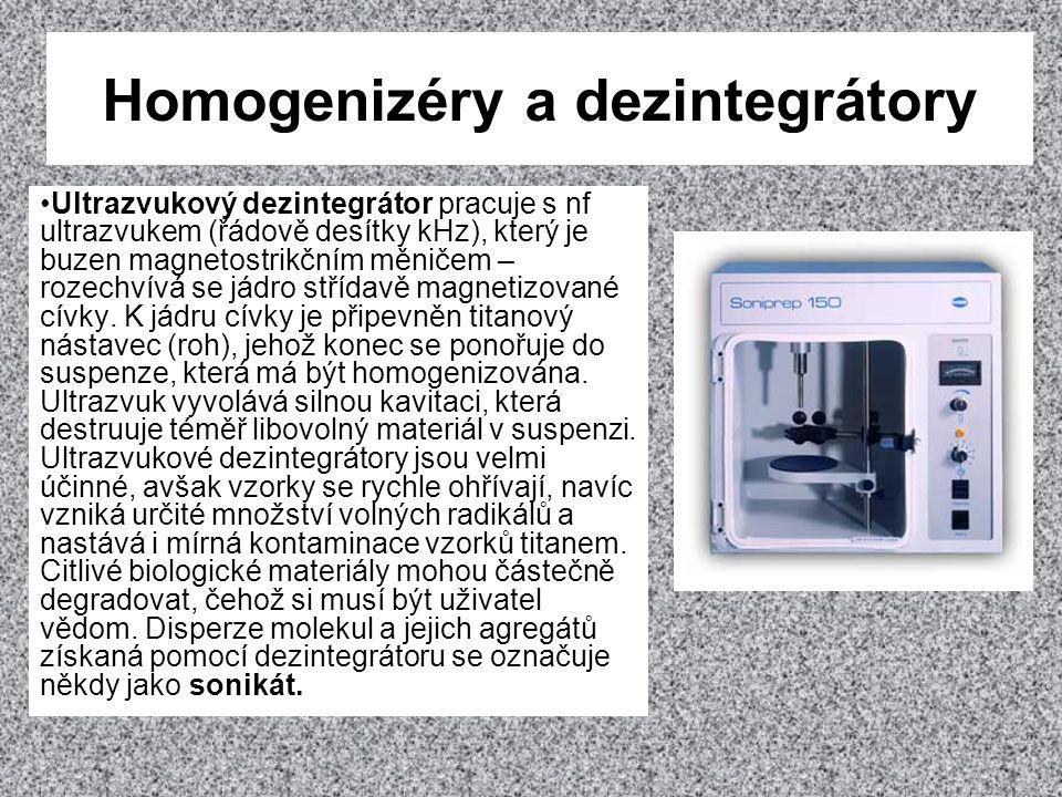 Homogenizéry a dezintegrátory