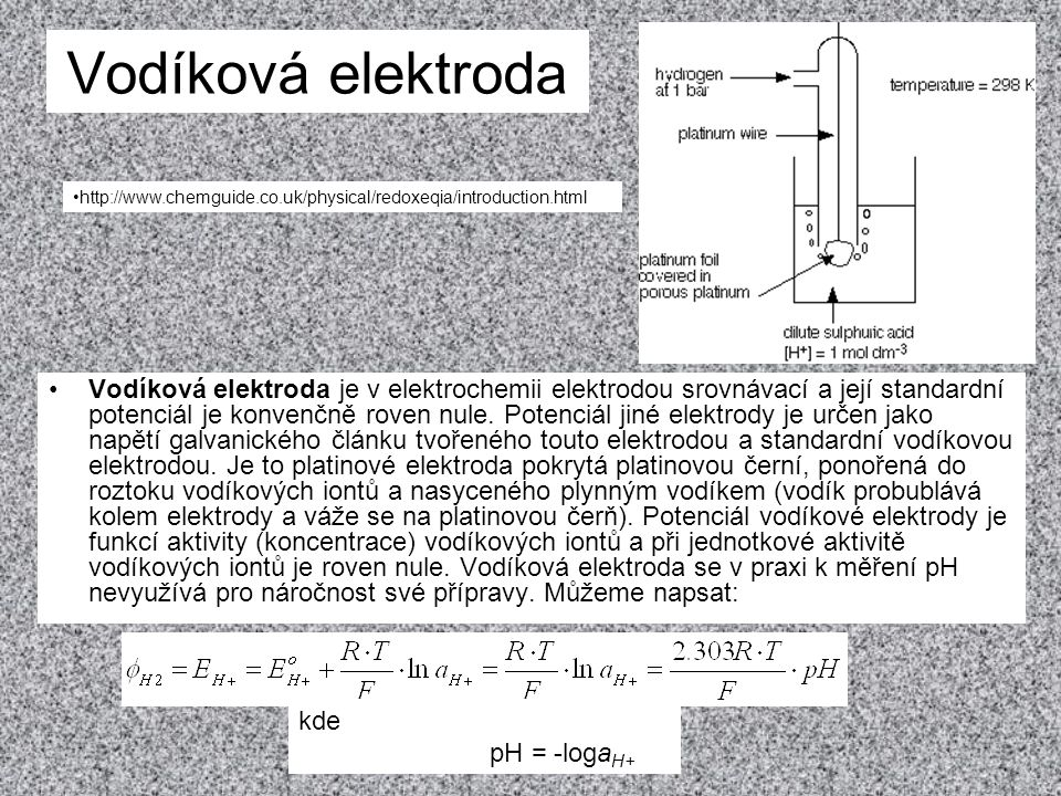 Vodíková elektroda http://www.chemguide.co.uk/physical/redoxeqia/introduction.html.