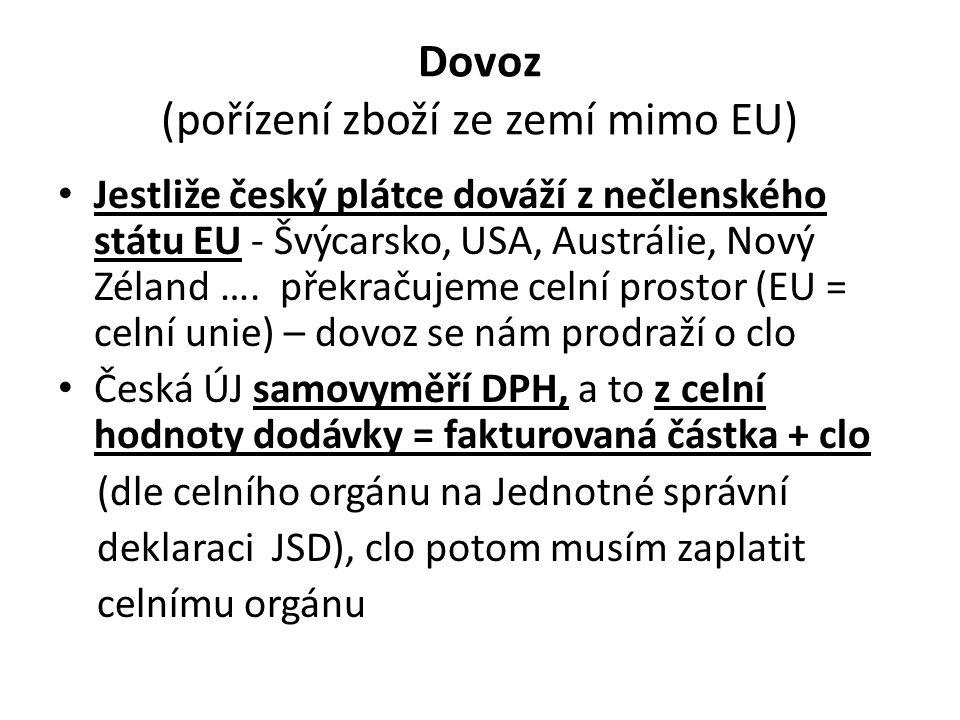 Dovoz (pořízení zboží ze zemí mimo EU)