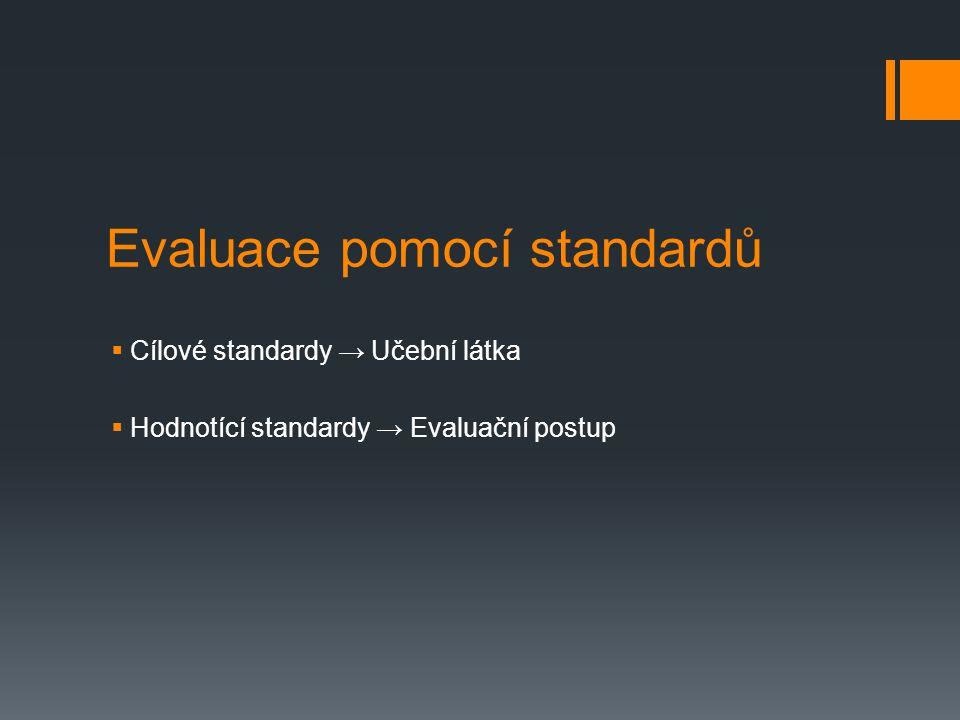 Evaluace pomocí standardů