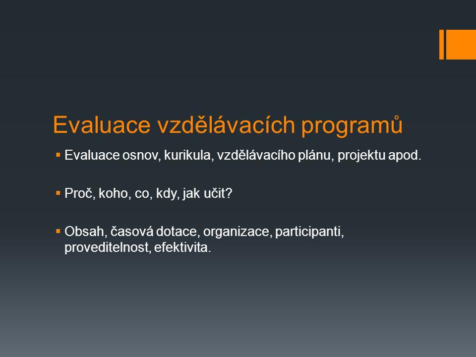 Evaluace vzdělávacích programů