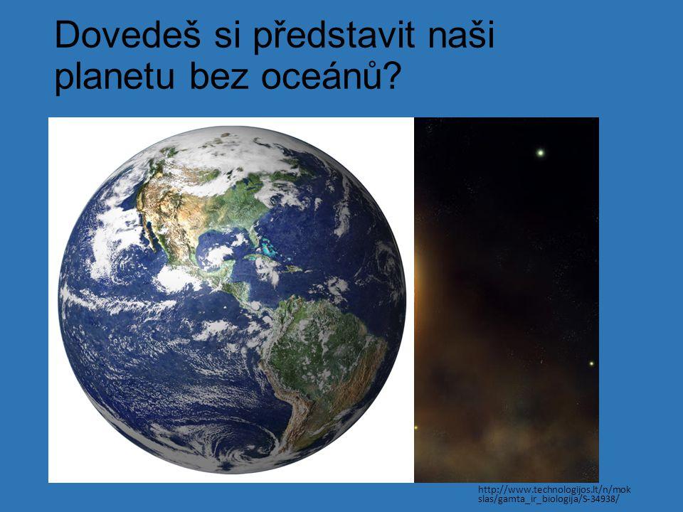 Dovedeš si představit naši planetu bez oceánů