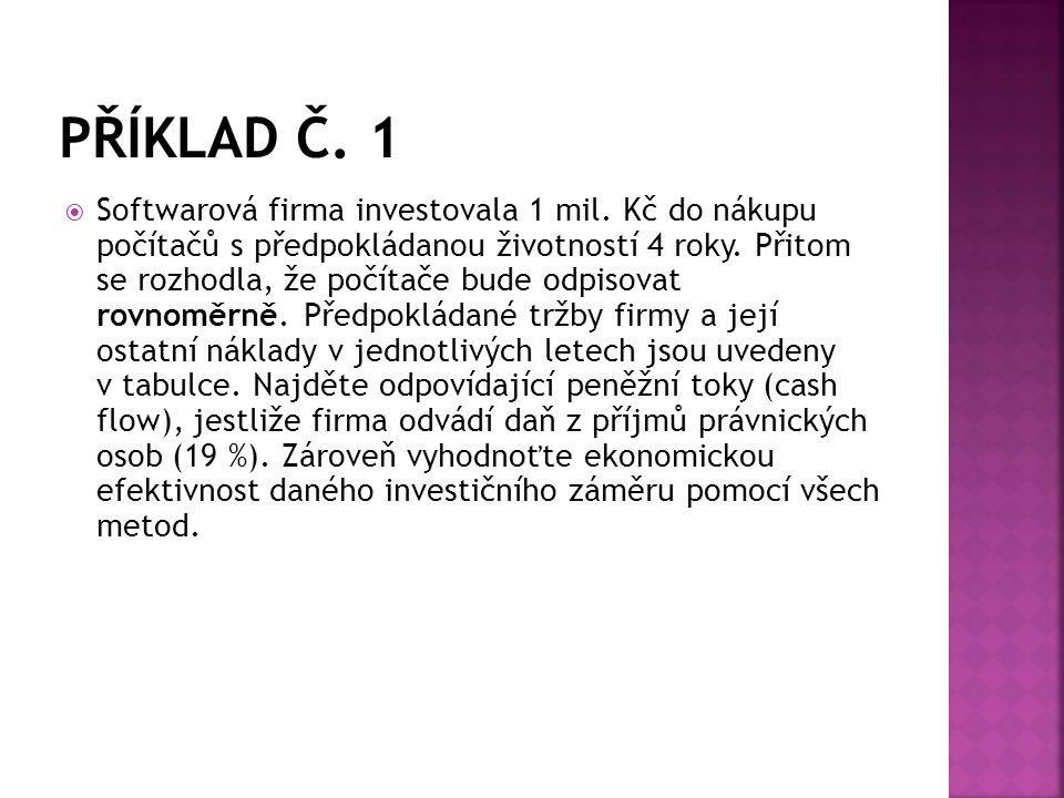 PŘÍKLAD Č. 1
