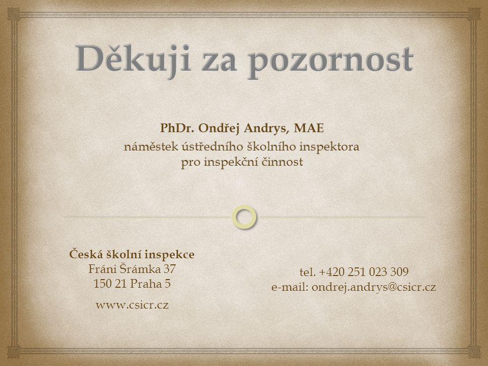 Děkuji za pozornost PhDr. Ondřej Andrys, MAE