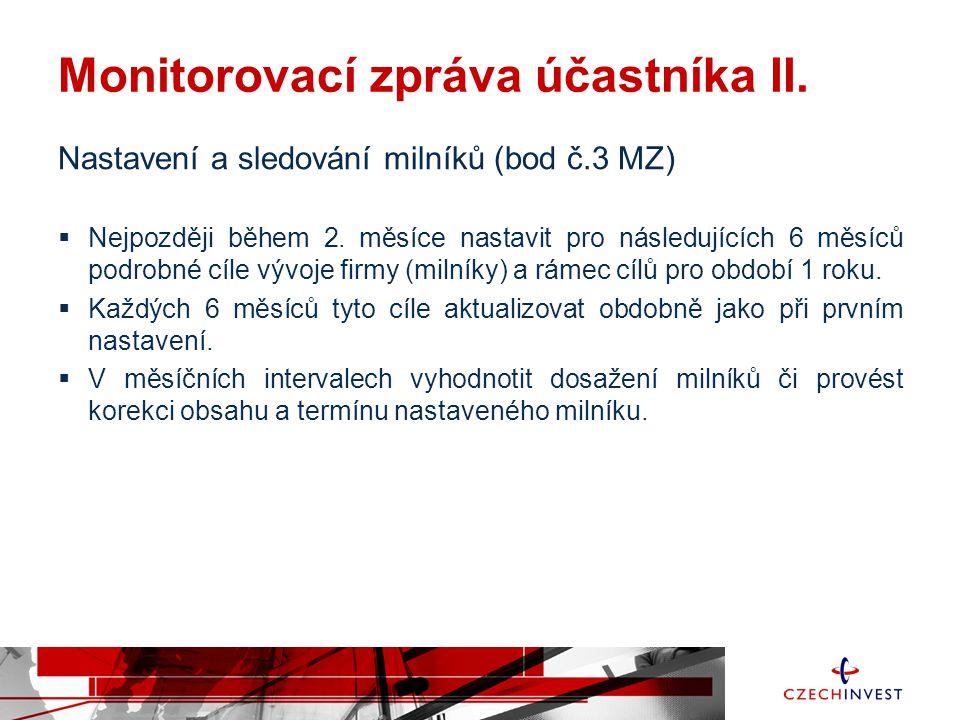 Monitorovací zpráva účastníka II.