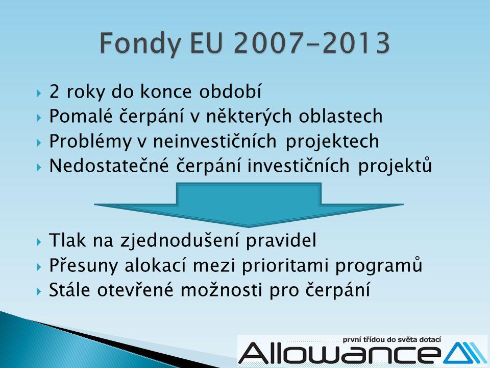 Fondy EU 2007-2013 2 roky do konce období