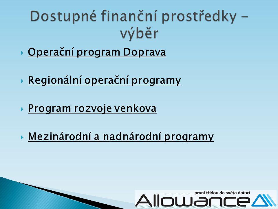 Dostupné finanční prostředky - výběr