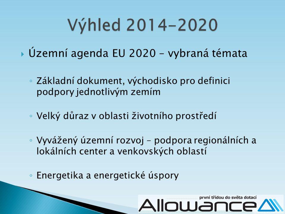 Výhled 2014-2020 Územní agenda EU 2020 – vybraná témata