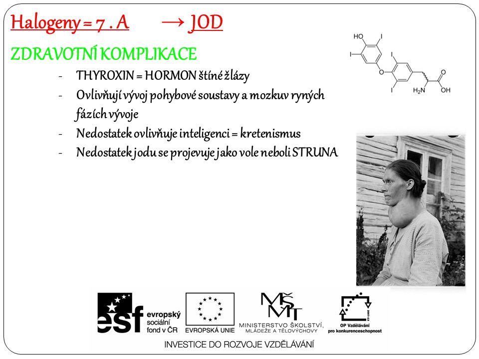 Halogeny = 7 . A JOD ZDRAVOTNÍ KOMPLIKACE