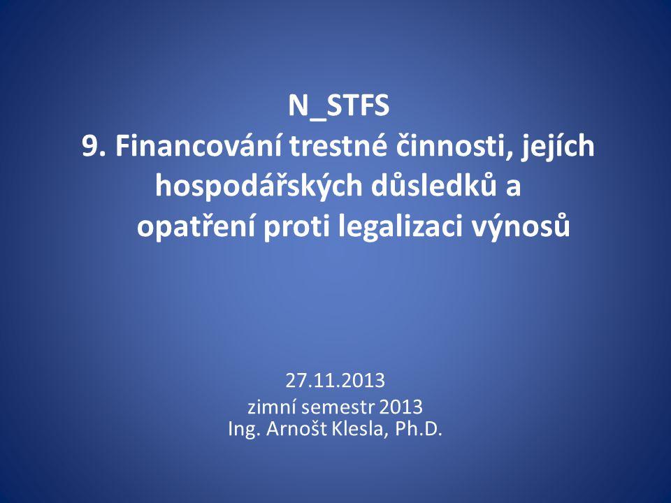 zimní semestr 2013 Ing. Arnošt Klesla, Ph.D.