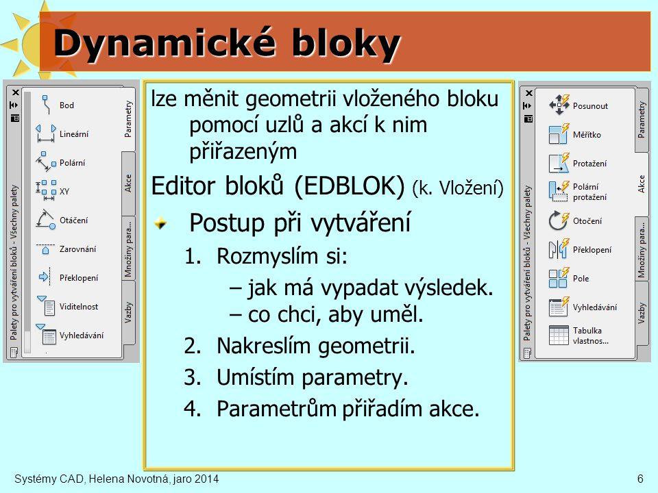 Dynamické bloky Editor bloků (EDBLOK) (k. Vložení)