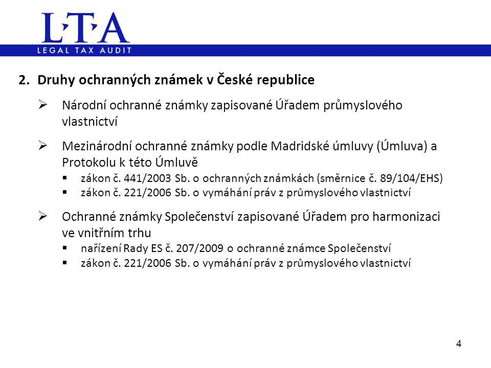 2. Druhy ochranných známek v České republice