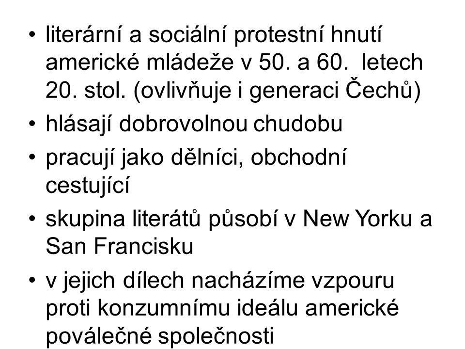 literární a sociální protestní hnutí americké mládeže v 50. a 60