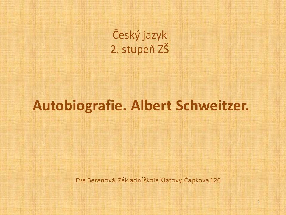 Autobiografie. Albert Schweitzer.