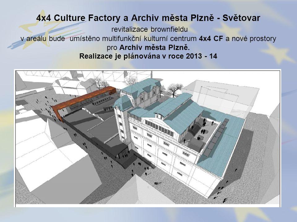 4x4 Culture Factory a Archiv města Plzně - Světovar revitalizace brownfieldu v areálu bude umístěno multifunkční kulturní centrum 4x4 CF a nové prostory pro Archiv města Plzně.