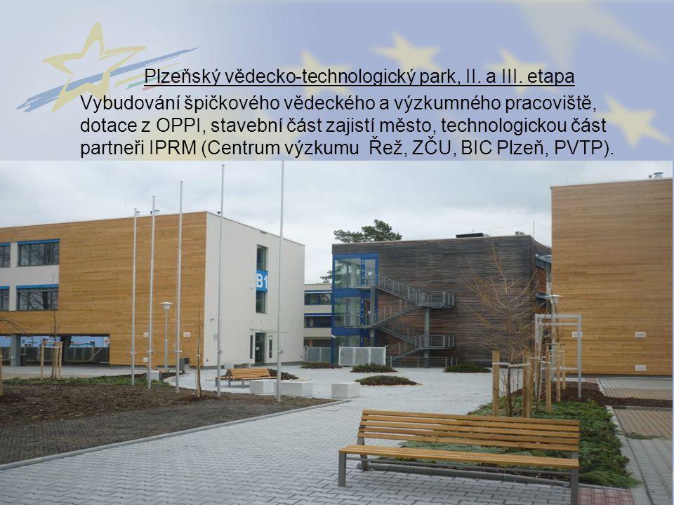 Plzeňský vědecko-technologický park, II. a III. etapa