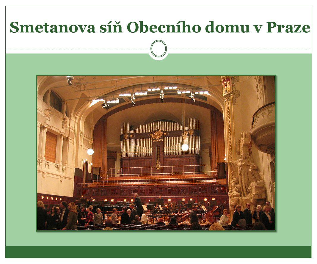Smetanova síň Obecního domu v Praze