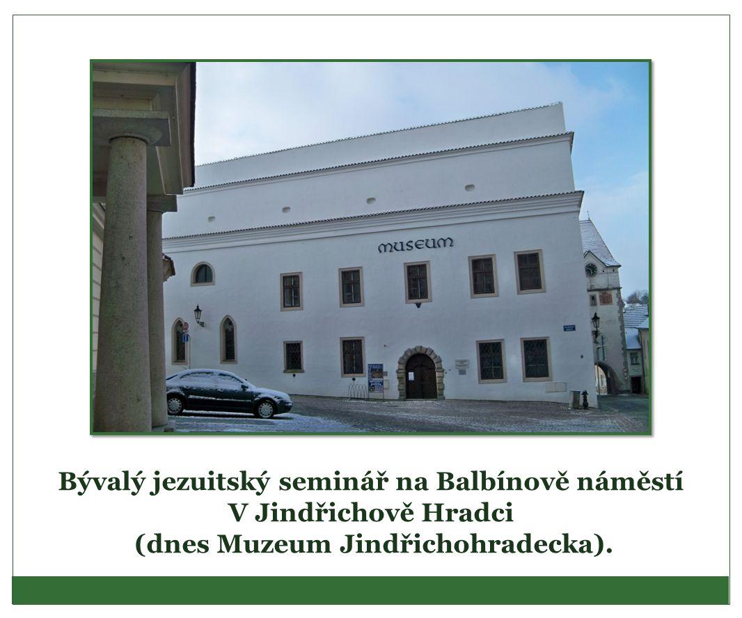 Bývalý jezuitský seminář na Balbínově náměstí V Jindřichově Hradci