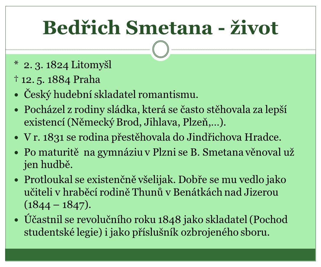 Bedřich Smetana - život