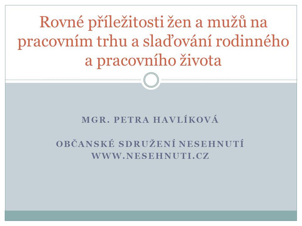 Mgr. Petra Havlíková Občanské sdružení NESEHNUTÍ www.nesehnuti.cz