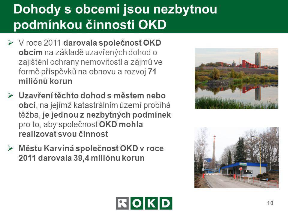 Dohody s obcemi jsou nezbytnou podmínkou činnosti OKD