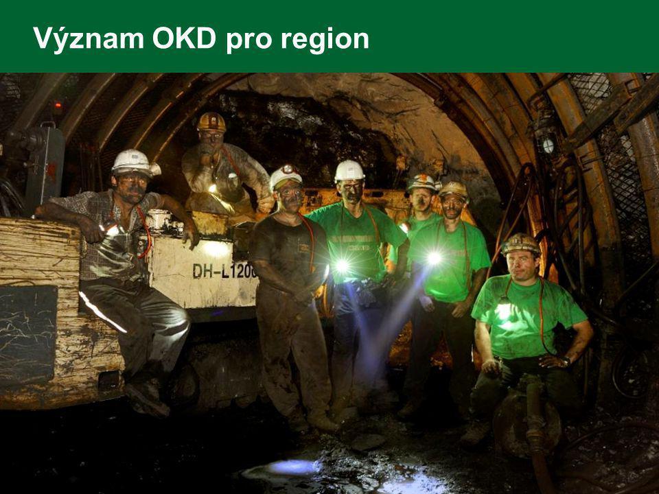 Význam OKD pro region