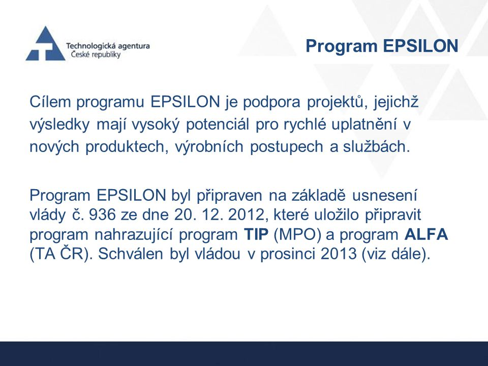 Program EPSILON