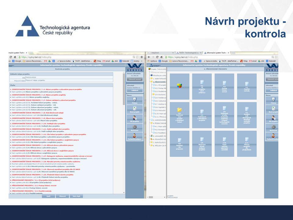 Návrh projektu - kontrola