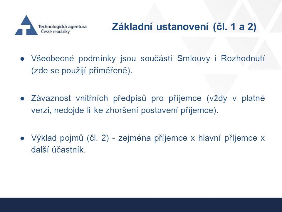 Základní ustanovení (čl. 1 a 2)