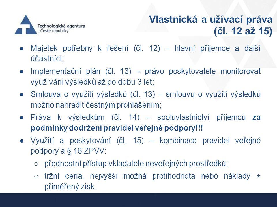 Vlastnická a užívací práva (čl. 12 až 15)