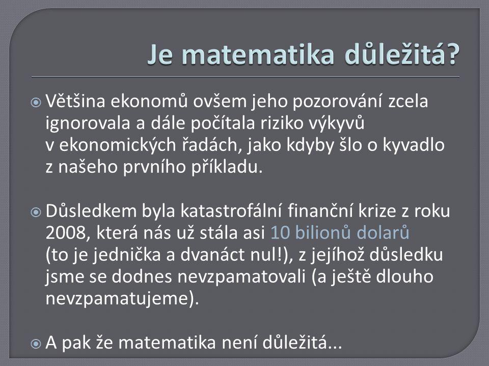 Je matematika důležitá