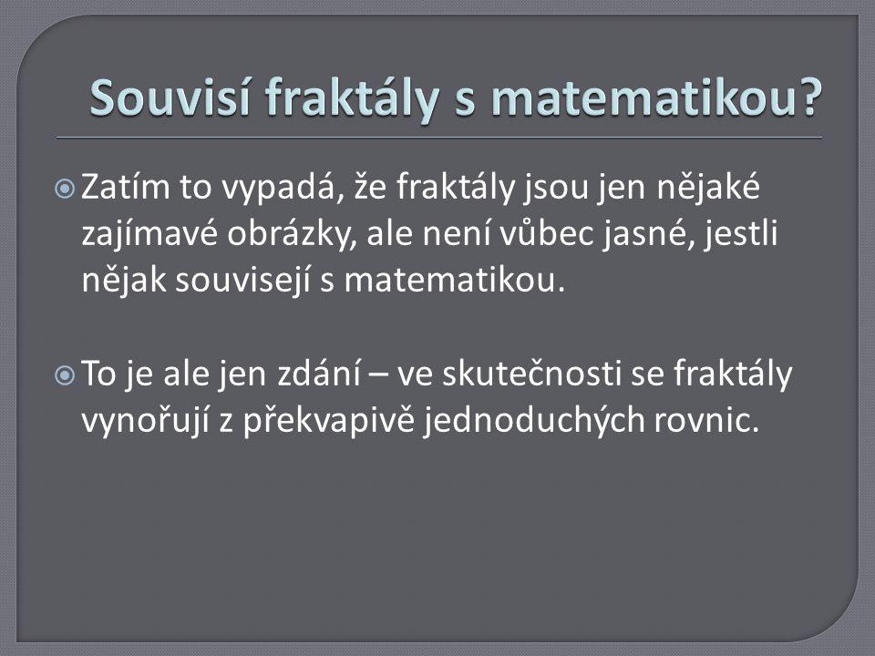 Souvisí fraktály s matematikou