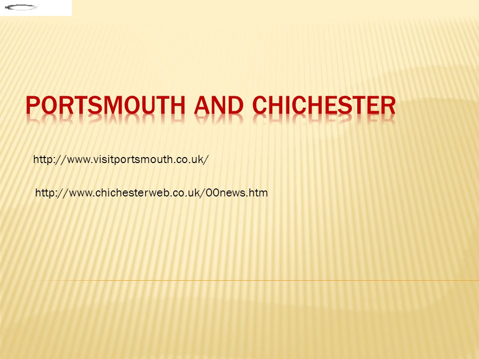 PORTSMOUTH and chichester