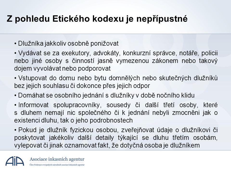 Z pohledu Etického kodexu je nepřípustné