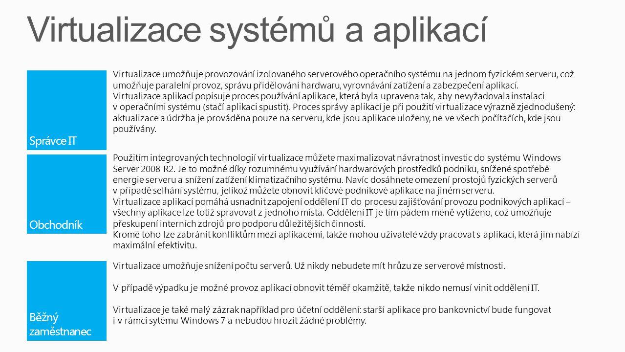 Virtualizace systémů a aplikací