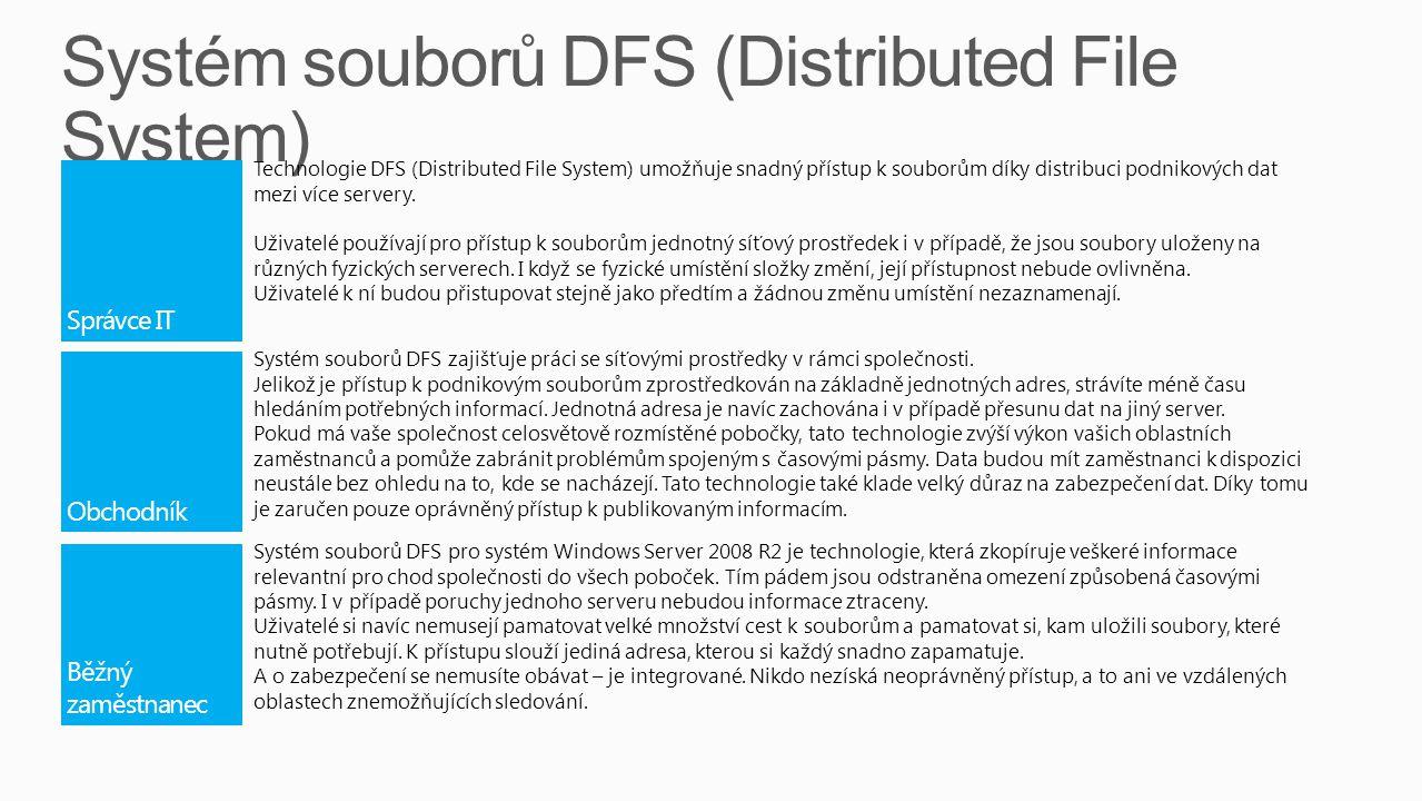 Systém souborů DFS (Distributed File System)