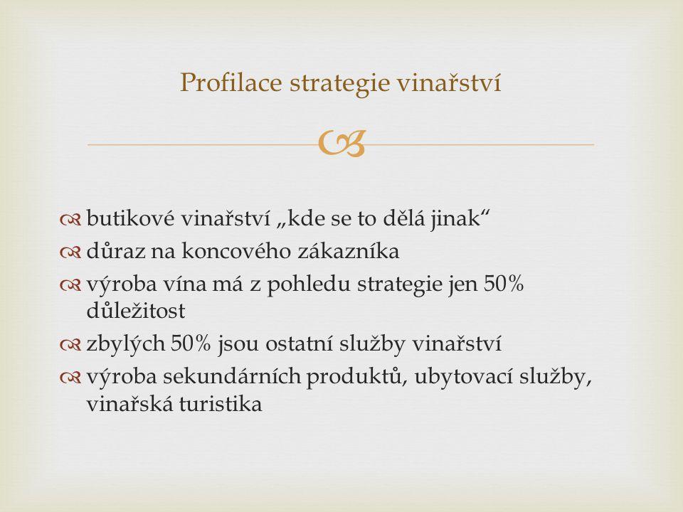 Profilace strategie vinařství