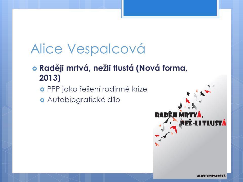 Alice Vespalcová Raději mrtvá, nežli tlustá (Nová forma, 2013)