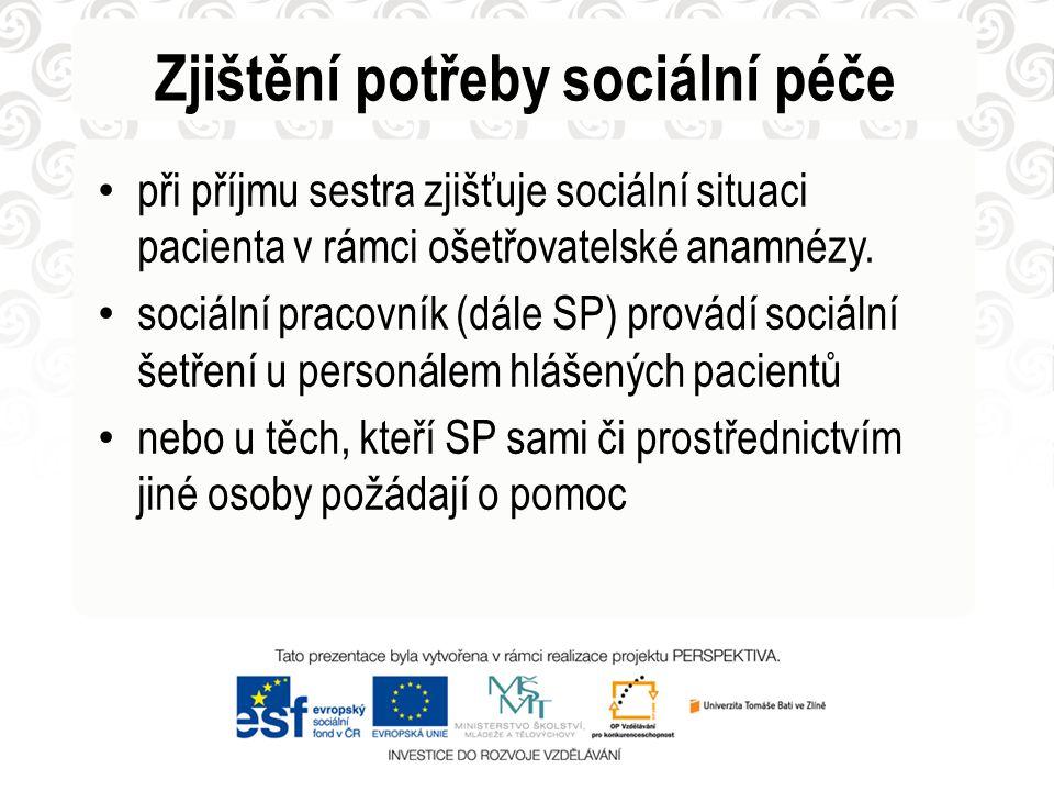 Zjištění potřeby sociální péče
