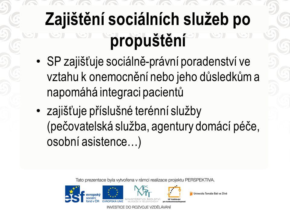 Zajištění sociálních služeb po propuštění