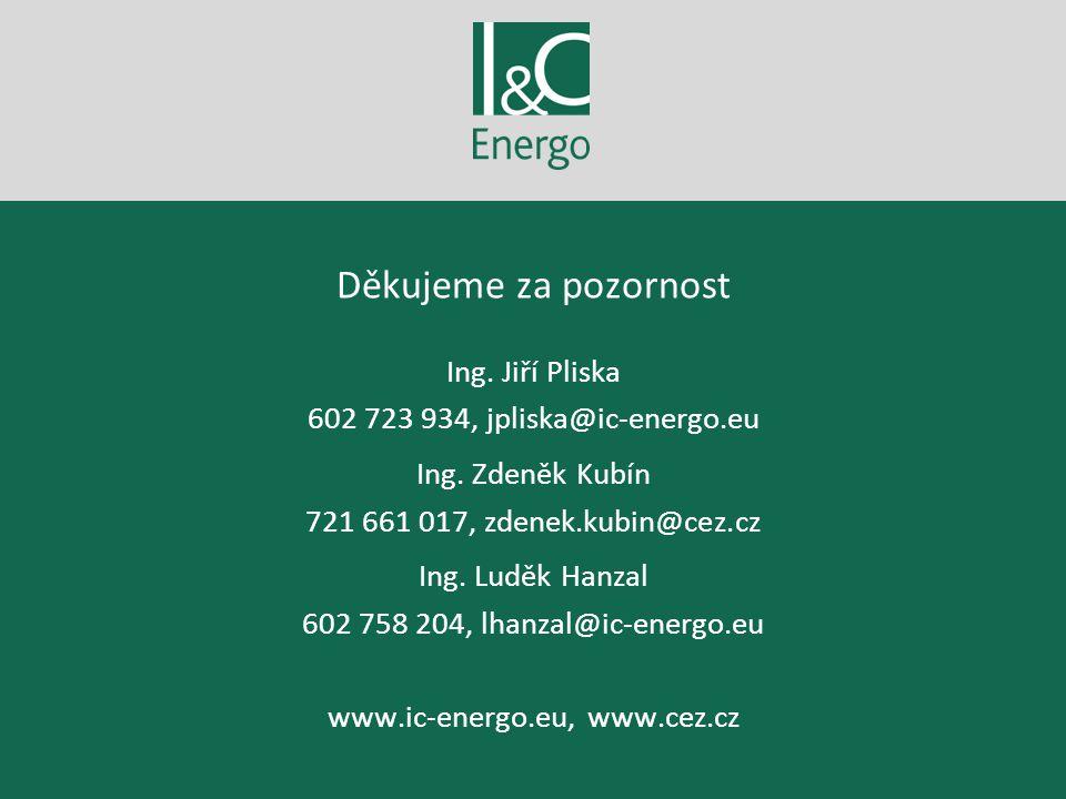 Děkujeme za pozornost Ing. Jiří Pliska 602 723 934, jpliska@ic-energo