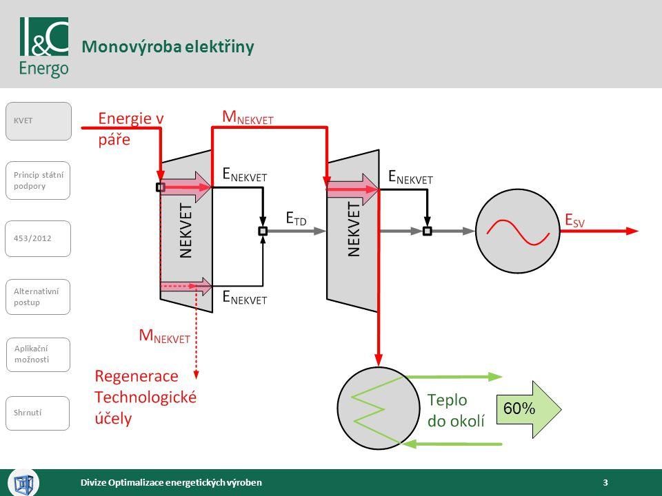 Monovýroba elektřiny 60%