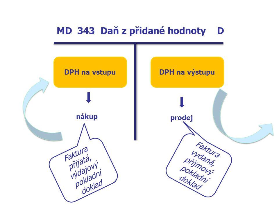 MD 343 Daň z přidané hodnoty D