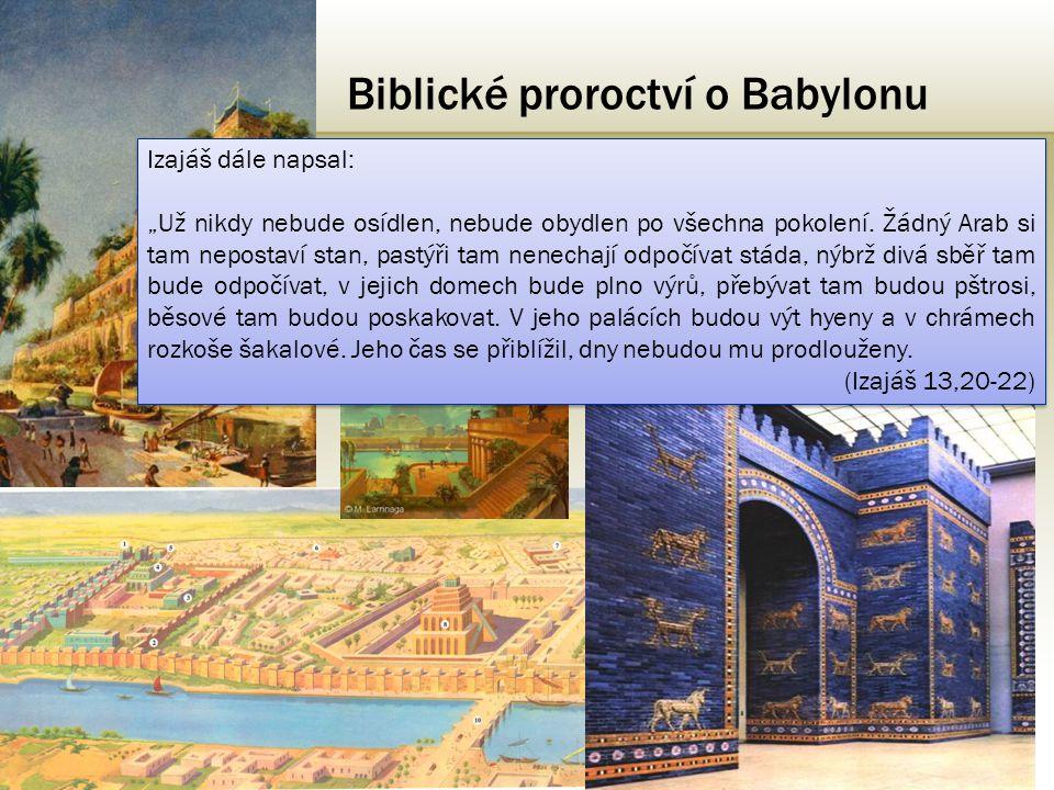 Biblické proroctví o Babylonu