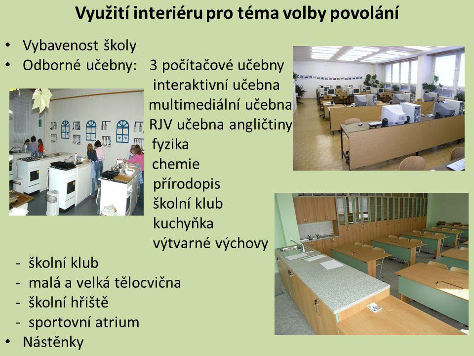 Využití interiéru pro téma volby povolání