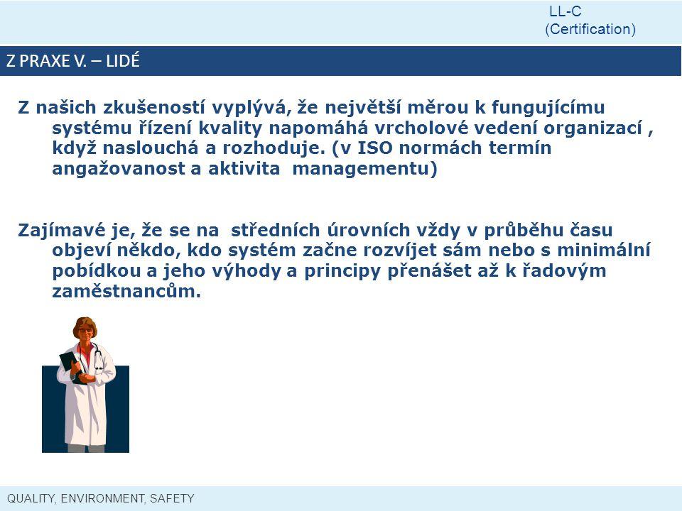 LL-C (Certification) Z PRAXE V. – LIDÉ.